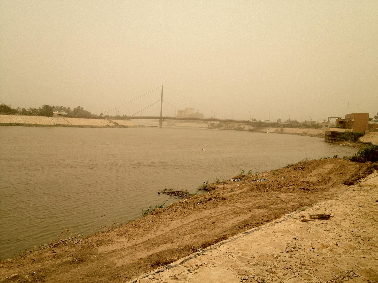 View of the river! Muddy muddy river...